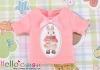 i62.【PR-62N】B/P Printing Tee(Rabbit + Bow)# Sweet Pink