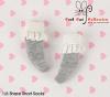 【KS-A05/KS-S03N】(B/P) Lace Top Ankle Socks # Grey