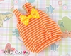 【BS-16】B/P Doll Braces Puff Skirt # Stripe Orange