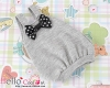 【BS-19】B/P Doll Braces Puff Skirt(Bow) # Gray