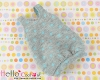 【BS-29】B/P Doll Braces Puff Skirt # Gray+Point Sky Blue