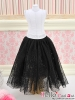 280.【PS-04】Blythe/Pullip Long Tulle Ball Skirt(Dot)# Black