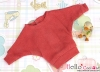 410.【NW-11】Blythe Pullip Bat Wing Sleeve Boat Neck Top # Crimson