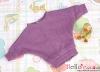 411.【NW-12】Blythe Pullip Bat Wing Sleeve Boat Neck Top # Violet