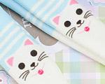 【BP-T02】Blythe Printing Pantyhose # Cats/Blue