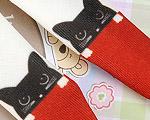 【BP-T04】Blythe Printing Pantyhose # Cats/Crimson