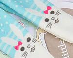 【BP-T08】Blythe Printing Pantyhose # Rabbit/Cyan