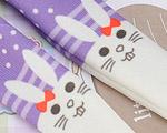 【BP-T09】Blythe Printing Pantyhose # Rabbit/Violet