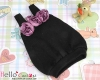 【BS-46】B/P Doll Braces Puff Skirt(3-Flower)# Black