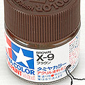 10ml Tamiya Acrylic Paint X-9 Brown