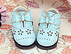 【20-6】B/P Hollow Out Bow Mini Shoes # Sky Blue