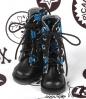 【13-18】B/P Boots.Skeleton Blue
