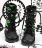 【13-19】B/P Boots.Skeleton Green