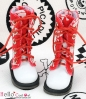 【13-20】B/P Boots.Skeleton Red