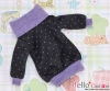 110.【NI-21N】Blythe Pullip Lovely Clothes(Dot)# Purple