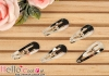 Y58.【DIY-C2】30mm Silver Metal Hair Snap Clip Findings x 8pcs