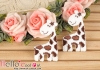 1Pc Embroidered Iron On Patch # Cute Giraffe Brown
