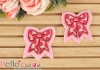 1Pc Embroidered Iron On Patch # Bow Pink