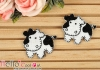 1Pc Embroidered Iron On Patch # Dairy Cattle