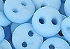 Y88.【DIY-B33】4mm Plastic 2 Holes Tiny Button(Round)30pcs # Blue