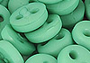 Y93.【DIY-B38】4mm Plastic 2 Holes Tiny Button(Round)30pcs # Sea Green