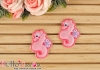 1Pc Embroidered Iron On Patch # Cute Seahorse
