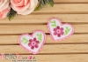 1Pc Embroidered Iron On Patch # Cute Heart Pink