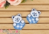1Pc Embroidered Iron On Patch # Cute Heart Bear