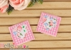 1Pc Embroidered Iron On Patch # Cute Check Heart