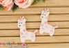 1Pc Embroidered Iron On Patch # Cute Giraffe Pink