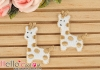 1Pc Embroidered Iron On Patch # Cute Giraffe Pale Brown