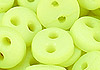 Y41.【DIY-B02】4mm Plastic 2 Holes Tiny Button(Round)30pcs # Light Apple Green