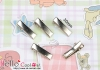 Y157.【DIY-C13】20mm Silver Prong Metal Hair Alligator Clip x 10pcs