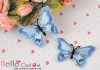 1Pc Embroidered Iron On Patch # Butterfly.Blue