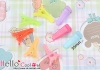 Y160.30mm Plastic Hair Alligator Clip Mixed Candy Colors x 8pcs