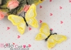 1Pc Embroidered Iron On Patch # Butterfly.Yellow