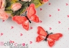 1Pc Embroidered Iron On Patch # Butterfly.Red