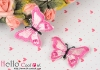 1Pc Embroidered Iron On Patch # Butterfly.Deep Pink