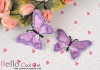 1Pc Embroidered Iron On Patch # Butterfly.Purple