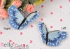 1Pc Embroidered Iron On Patch # Butterfly/Right.Blue