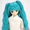 【DM-18】DD/MDD HP wigs w/Wave Hair Pin # Dark Turquoise