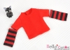 220.【NT-1】Blythe Pullip(Separate Sleeves)Tee # Stripe Red
