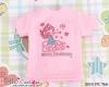 【PR-126】B/P Printing Tee/Slim Fit(Angel)# Pink