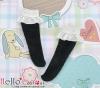 【KS-D02】(Blythe/Lati Yellow)Blythe Lace Top Below Knee Socks # Black