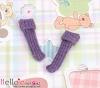 【KR-10】B/P Bobby Socks # Grey Violet