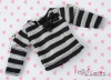 199.【NL-S04】Blythe Pullip (Separate Sleeves) T-Shirt # Grey Stripe