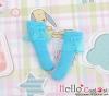 【KS-A16】(B/P) Lace Top Ankle Socks # Blue