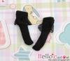 【KS-A19】(B/P) Lace Top Ankle Socks # Black