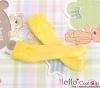 【KS-C10】(B/P) Lace Top Below Knee Socks # Yellow