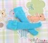 【KS-C12】(B/P) Lace Top Below Knee Socks # Blue